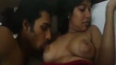 Selfshot boob suck video of lovers