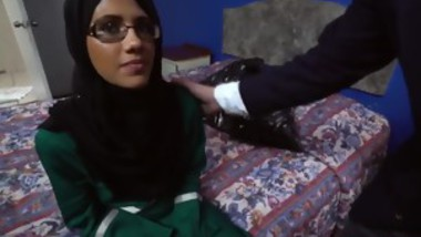 Slim Arab enjoys riding cock on bed