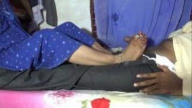 Erotic Foot Job By Horny Desi Woman