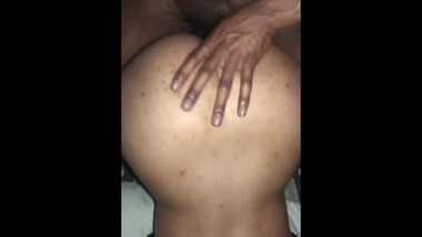 Sub indian gf gets hot cum on her fat juicy ass
