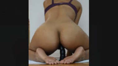 Horny Bhabi riding On Dildo