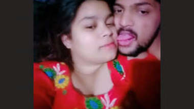 Super horny couple full liplock
