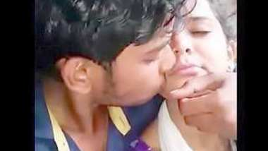 Desi village lover kissing seen